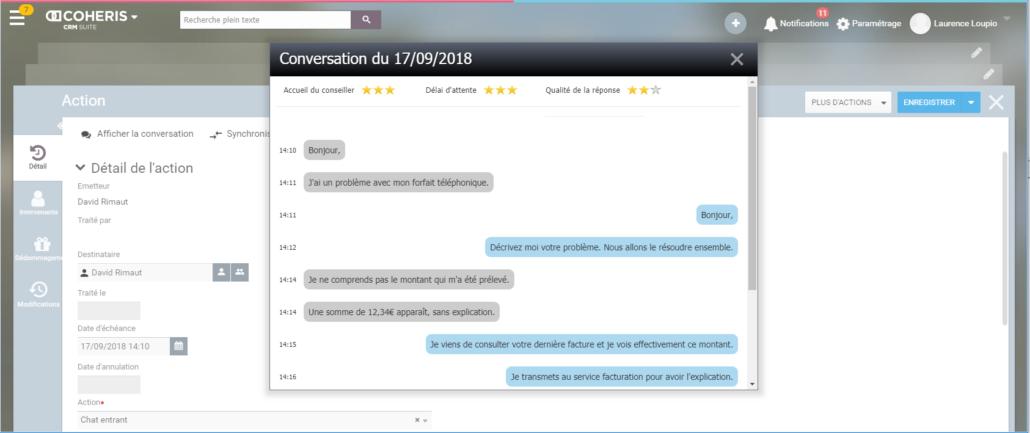 Coheris enrichit Coheris CRM 6.1 d'un outil de live chat avec iAdvize